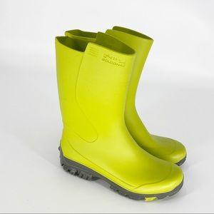 SOLOGNAC Lime Green Winter Rain Boots Size